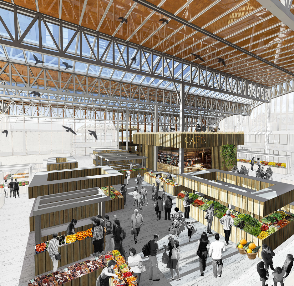 public market architectural thesis Stadtstattstrand - the creative use of public spaces  an architecture that would  turn failed (by not passing eu marketing standards) fruit and vegetables into.